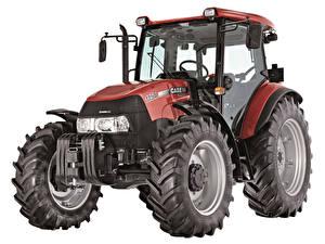 Bakgrundsbilder på skrivbordet Traktorer Vit bakgrund Case IH Farmall 115A, UK-spec, 2012