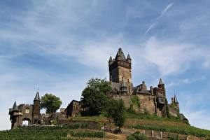 Pictures Castle Germany Cochem Tower Rhineland-Palatinate