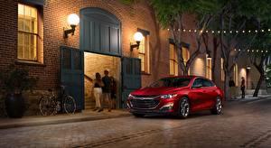 Image Chevrolet Street lights Red Street Sedan Malibu, RS, 2018 automobile