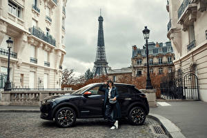 Wallpapers Paris Eiffel Tower CUV Metallic Side DS 3 Crossback, 2020 Cities Girls