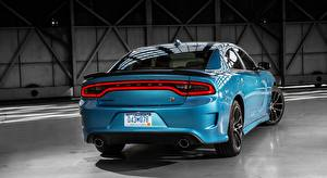 Pictures Dodge Back view Metallic Light Blue Charger, R/T Scat Pack, 2015 automobile