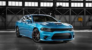 Picture Dodge Sedan Metallic Light Blue Charger, R/T Scat Pack, 2015 automobile