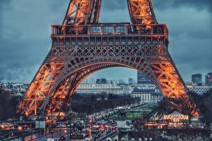 Fotos Abend Eiffelturm Paris