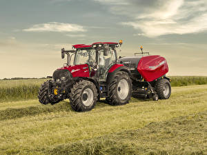 Pictures Fields Agricultural machinery Tractor 2019-20 Case IH Versum 130 CVXDrive