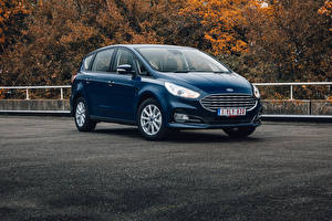Images Ford Blue Metallic Estate car S-MAX, 2019-- Cars