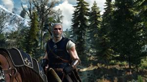 Papéis de parede Geralt de Rívia The Witcher 3: Wild Hunt Jogos 3D_Gráfica imagens