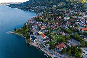 Image Germany Coast Houses Roads Bavaria From above Berge Cities