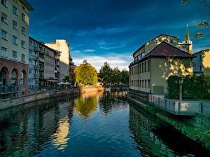 Tapety Niemcy Domy Kanał wodny Pforzheim Miasta zdjęcia zdjęcie