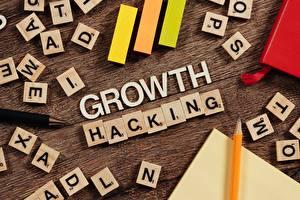 Bakgrundsbilder på skrivbordet Blyertspennor Textning Engelska Growth Hacking