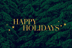 Bakgrundsbilder på skrivbordet Helgdagar Hälsningskort mall Små stjärnor Skrivet ord Engelsk Happy holidays