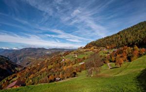 Bilder Italien Gebirge Herbst Himmel Landschaftsfotografie Alpen South Tyrol Natur