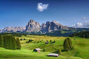 Tapety na pulpit Włochy Góra Pejzaż Alpy Dolina South Tryol