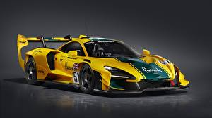 Tapety na pulpit McLaren Coupé Żółty Senna GTR LM, 2020