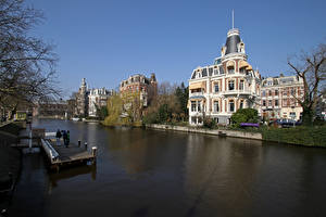 Image Netherlands Amsterdam Building Canal Cities