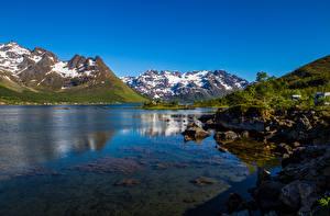 Bilder Norwegen Gebirge Lofoten