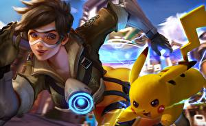 Pictures Overwatch tracer, crossover, pikachu