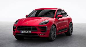 Desktop wallpapers Porsche Crossover Red Macan, GTS, 2015 automobile