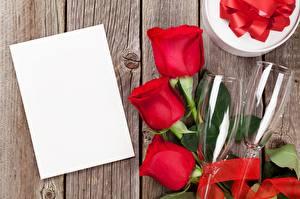 Fotos Rosen Vorlage Grußkarte Weinglas Blüte