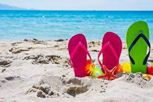 Pictures Sand Flip-flops Nature
