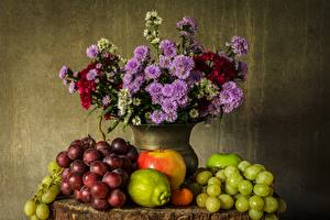 Images Still-life Grapes Vase Food
