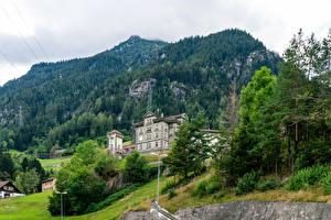 Tapety Szwajcaria Zamek Lasy Alpy Turnia Gurtnellen, Uri Miasta zdjęcia zdjęcie