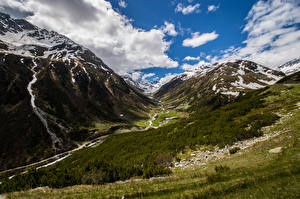 Pictures Switzerland Mountains Alps Clouds  Nature