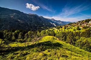 Images Switzerland Mountain Scenery Sky Alps