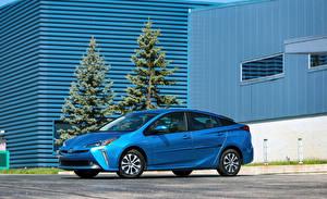 Bilder Toyota Hellblau 2019 Prius XLE AWD-e automobil