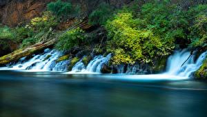Wallpaper USA Rivers Waterfalls Metolius River Oregon