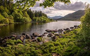 Fotos Vereinigtes Königreich Berg Fluss Stein Wales Snowdonia Natur