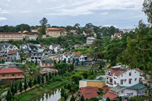 Papéis de parede Vietnã Casa Dalat Cidades imagens