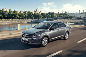 Pictures Volkswagen Gray Riding 2020 Polo automobile
