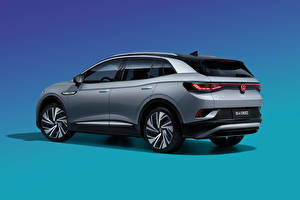Image Volkswagen Crossover Grey Metallic Colored background ID.4 Crozz Prime, China, 2020