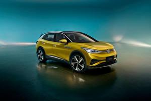 Wallpaper Volkswagen Crossover Metallic ID.4 X 1st, China, 2020 auto