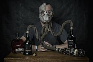 Pictures Alcoholic drink Gas mask Bottles