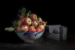 Desktop wallpapers Apples Bowl Food