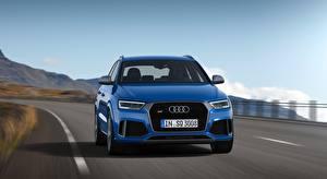 Sfondi desktop Audi Bokeh Movimento Davanti CUV  Auto