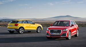 Pictures Audi Two Yellow Red Crossover Q2, TDI, quattro, 2016 auto