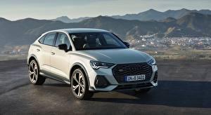 Pictures Audi White Crossover Q3, Sportback, 45 TFSI, quattro, S line, 2019