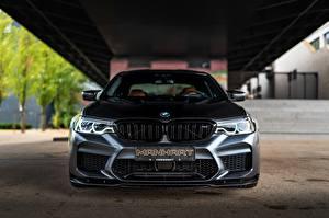 Bakgrundsbilder på skrivbordet BMW Framifrån Svart Manhart M5 V8 F90 2019 4.4 MH5 800 815