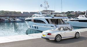 Images Bentley Yacht Pier White Continental GT, Convertible Galene Edition, 2017