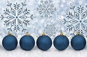 デスクトップの壁紙、、新年、ボール、雪の結晶、