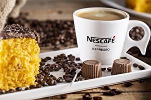 Fotos Kaffee Bonbon Getreide Becher Nescafe
