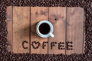 Fotos Kaffee Getreide Tasse Text Englisches