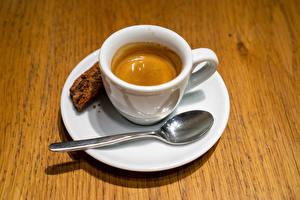 Fotos Kaffee Bretter Löffel Untertasse das Essen