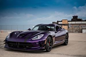 Bilder Dodge Violett Viper ACR automobil
