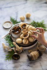 Photo Fingers Pastry Confectionery Nuts boiled condensed milk
