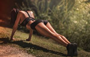 Pictures Fitness Legs Shorts Press-up Plank (exercise) Laurent KC, LKC athletic Girls