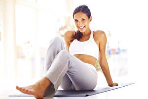Image Fitness Sit Smile Legs female