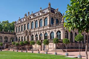 Wallpapers Germany Dresden Building Sculptures Museums Design Zwinger Cities